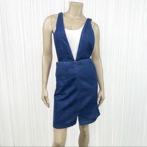 H&M Denim Jean Skirt Overall Jumper 2